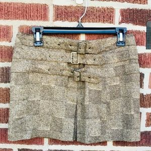 Express Wool Mini Skirts with Buckles